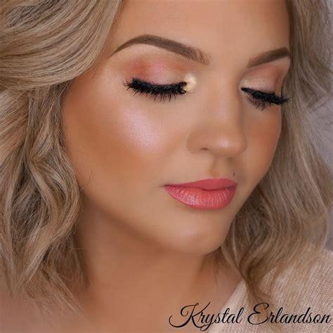 tutorial makeup peach soft peach makeup tutorial makeup geek krystal