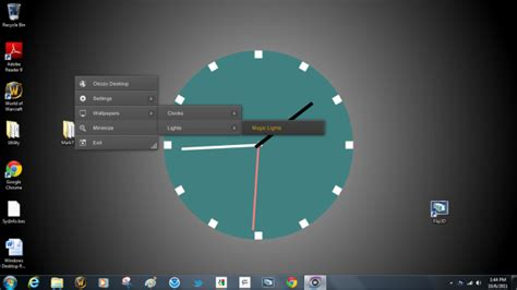 clock themes for pc windows 7 desktop wallpaper clock windows 7 wallpapersafari
