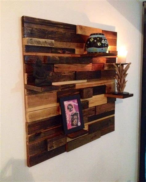 Diy Easy To Build Pallet Decorative Wall Shelf Colored Wall Shelves