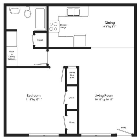 one room house floor plans simple 1 bedroom house plans shoestolose