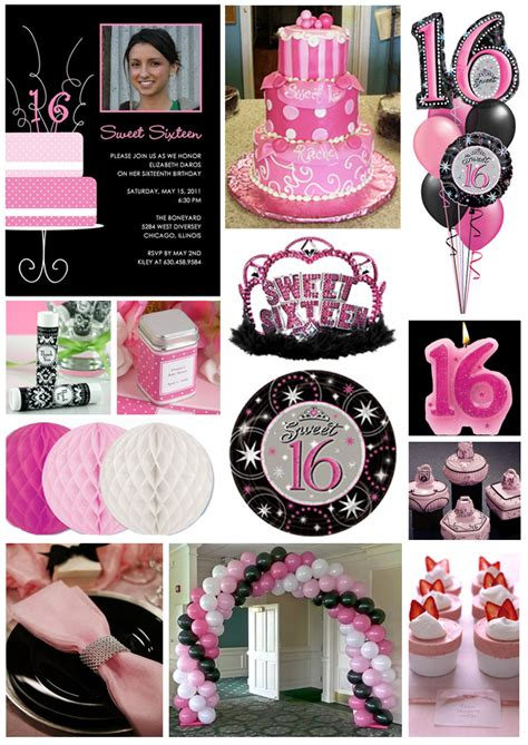 themes for girl sweet 16 inspiration board pretty in pink sweet 16 pink sweet 16
