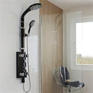 shower panel hudson reed black thermostatic shower panel