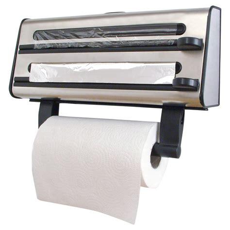 Holder For Kitchen by Kitchen Roll Dispenser Cling Tin Foil Towel Holder Rack Wall Mounted Ebay