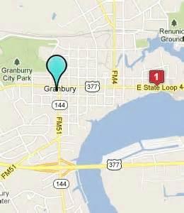 map of granbury granbury hotels motels see all discounts