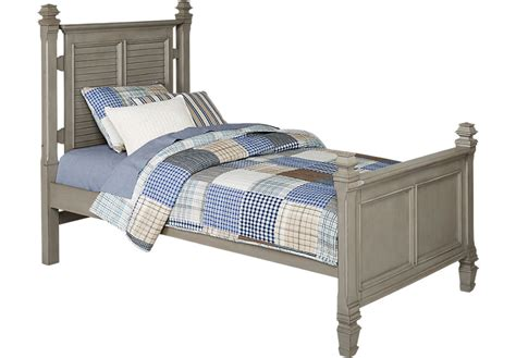 twin bed boys belmar gray 3 pc twin poster bed beds colors