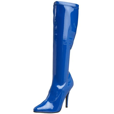 blue high heel boots cheap and knee high boots for 2018