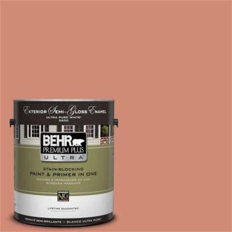 behr premium plus ultra 1 gal m190 5 fireplace glow semi gloss enamel exterior paint 585401