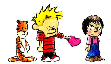 calvin and hobbes valentines day calvin and hobbes tough by streamthroughnebula on