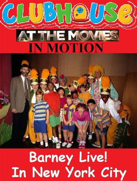 new york city live clubhouse at the in motion barney live in new