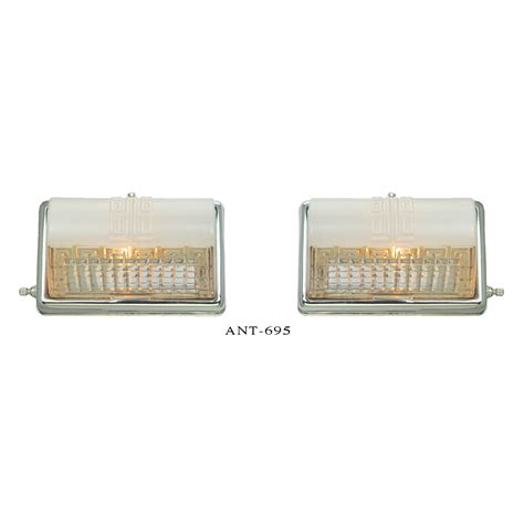 mid century bathroom light fixtures midcentury modern wall sconces pair bathroom kitchen