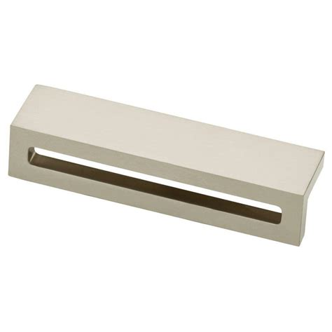 liberty satin nickel cabinet pull liberty urban square 3 3 4 in 96mm satin nickel cabinet
