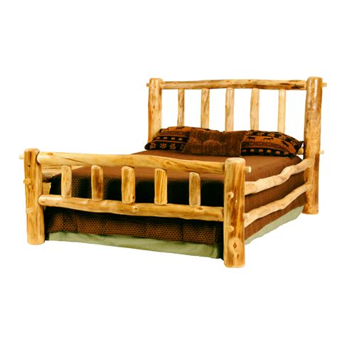 mountain woods furniture rustic arts plateau ii bed l