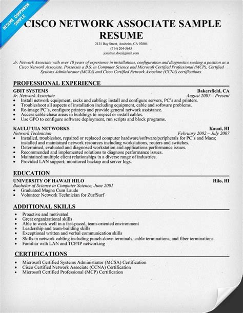 sle network engineer resume entry level how to write