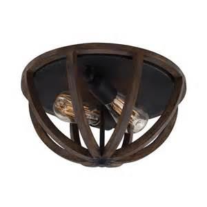 Wood Ceiling Light Oak Wood Dome Flush Fit Ceiling Light For Rustic Settings