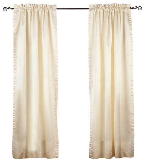 90 inch length curtains cream rod pocket 90 blackout curtain drape panel 80