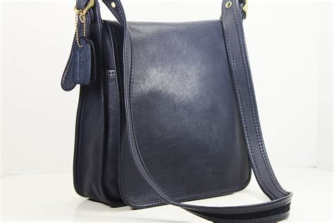 Coach Navy Blue Crossbody vintage coach navy blue leather messenger bag crossbody