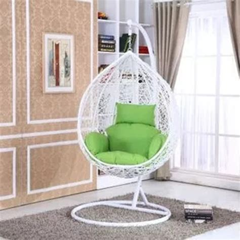 free standing swing chair pe rattan white outdoor free standing hanging egg swing