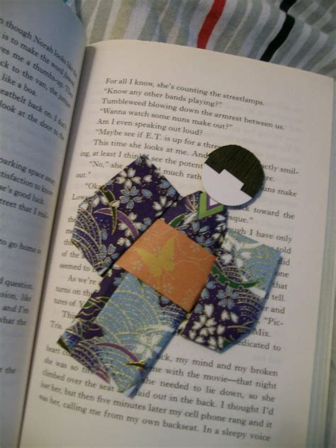 How To Make A Bookmark Out Of Paper - origami kimono bookmark 183 a paper bookmark 183 papercraft