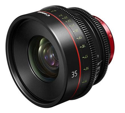 canon 35mm cinema prime lens for large format single
