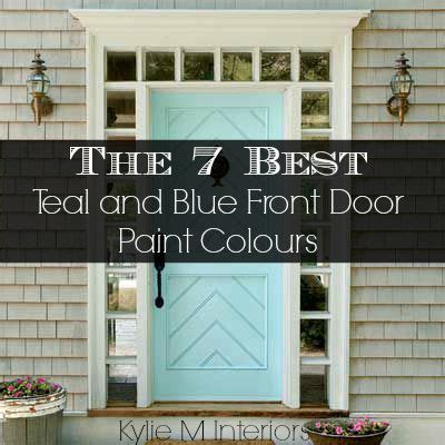 the 7 best teal and navy blue paint colours for the front door exterior with white or gray siding