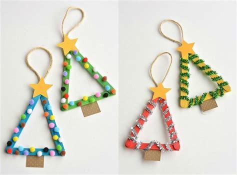 Baumschmuck Basteln Mit Kindern weihnachten basteln kinder tannenb 228 ume eisstiele