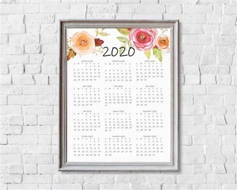 year   glance calendar printables  cottonwood whispers
