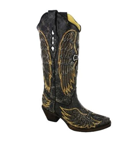 corral black and gold peace sign boots 2017