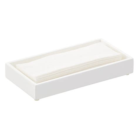 Guest Bathroom Tray Lacquer Guest Towel Tray The Container Store