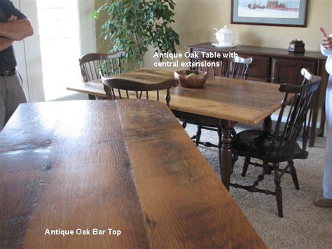 oak bar tops reclaimed oak table with central extensions and oak bar top reclaimed wood