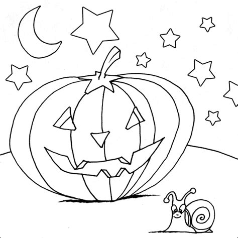 scary pumpkin coloring pages images