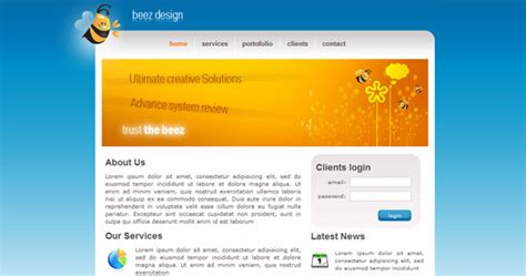 layout xhtml css beez design xhtml css template