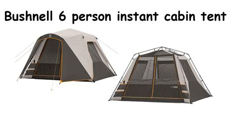 6 Person Cabin Tent by Bushnell 6 Person Instant Cabin Tent Time Set Up