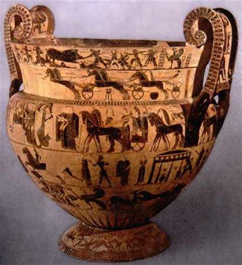 vaso di francois kleitias cratere attico a figure nere vaso francois