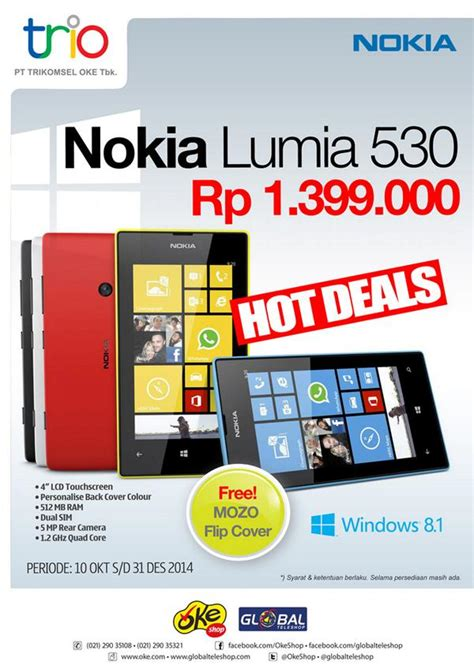 Nokia Lumia Global Teleshop global teleshop on quot promo lumia 530 free mozo