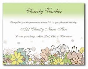 birthday charity donation voucher gift card template