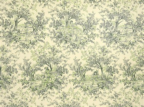 classic toile wallpaper vintage toile wallpaper rolls green and ivory wallpaper with