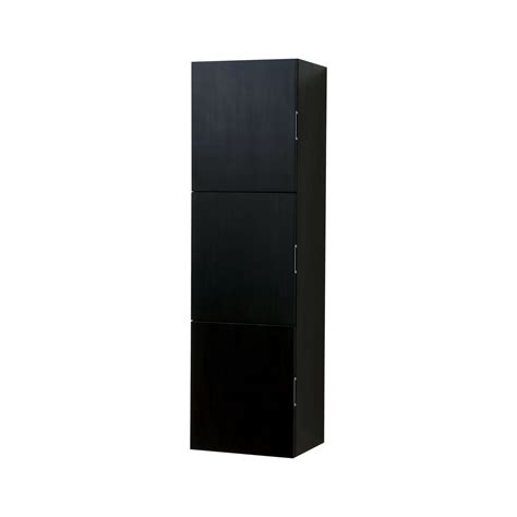 Bathroom Black Wood Linen Side Cabinet W 3 Large Storage Black Linen Cabinets For Bathroom
