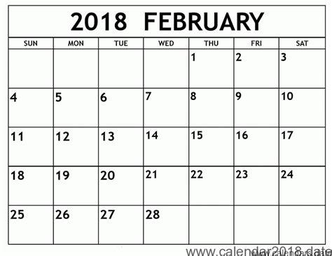 printable free february 2018 calendar free printable calendar february 2018 free printable