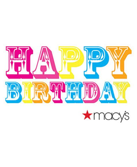 Macy S E Gift Card - happy birthday color e gift card gift cards macy s