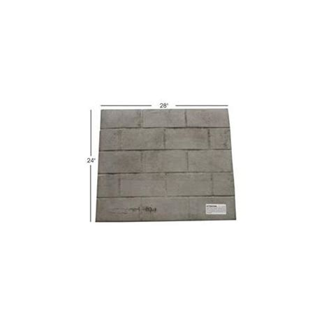 fireside universal fireplace replacement brick refractory panel 28 quot x 24 quot ebay
