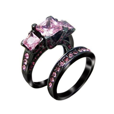 black pink high cut rn3111 victoria wieck princess cut black gold filled