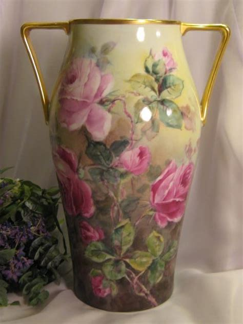 truly remarkable large victorian tea roses vase