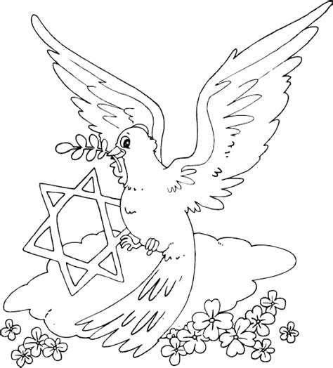 coloring page of the star of david dove and star of david coloring page coloring com