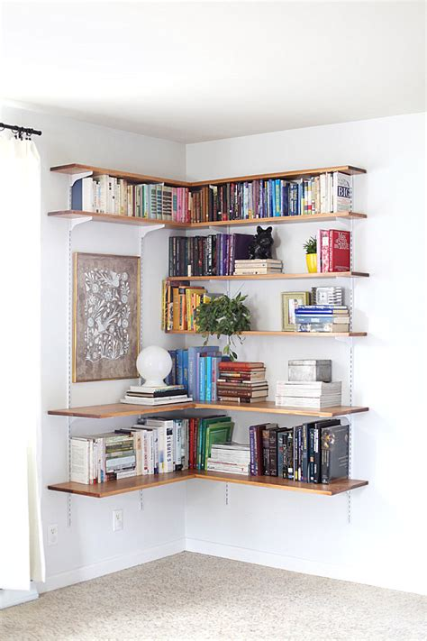 Corner Shelf System by How To Style Your Corner Shelving Systems
