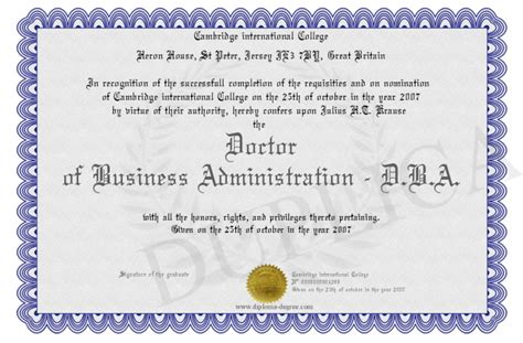 Business Doctoral Programs by Business Administration Doctorate In Business