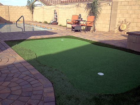 backyard putting green flags synthetic turf supplier palominas arizona putting green