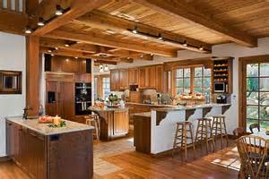 Wrap Around Porch Ideas the tuscany iii timber frame home kitchen this open