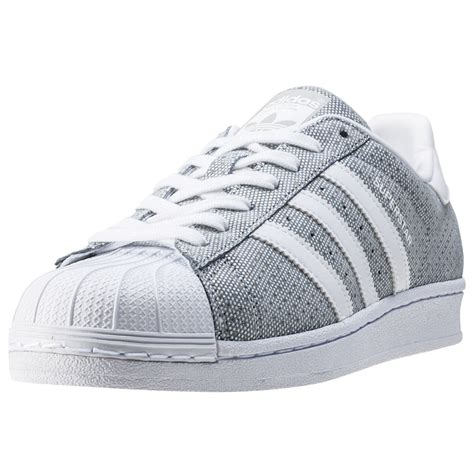 Adidas Grey adidas superstar w womens trainers grey white new shoes ebay