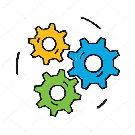 imagenes en movimiento de engranajes engranajes colorido icono aislado sobre fondo blanco