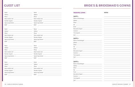 Wedding Party GUEST LIST Tracker Template example by keara
